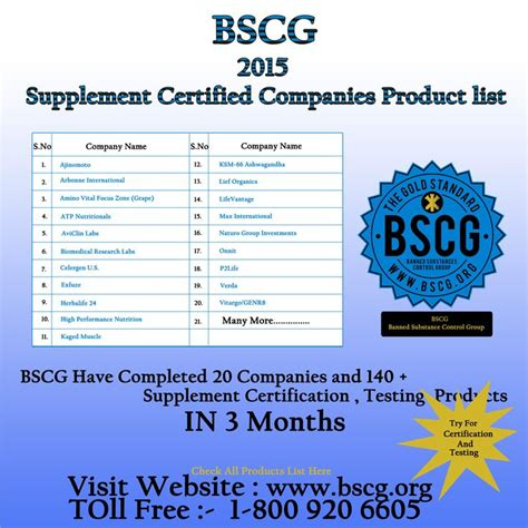 supplement certification supplement information for athletes banned substance