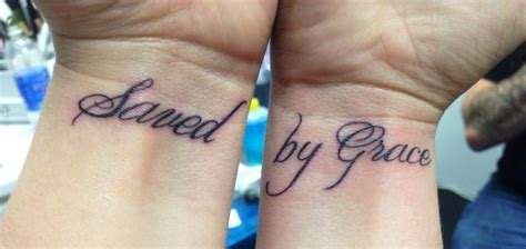 grace wrist tattoo my newest saved by grace cross