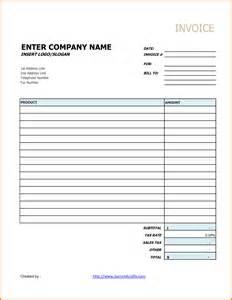 Generic Invoice Template Excel 5 Generic Invoice Receipt Templates