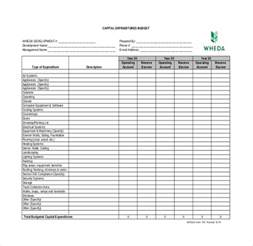 business income and expenditure template 8 expenditure budget templates free sle exle