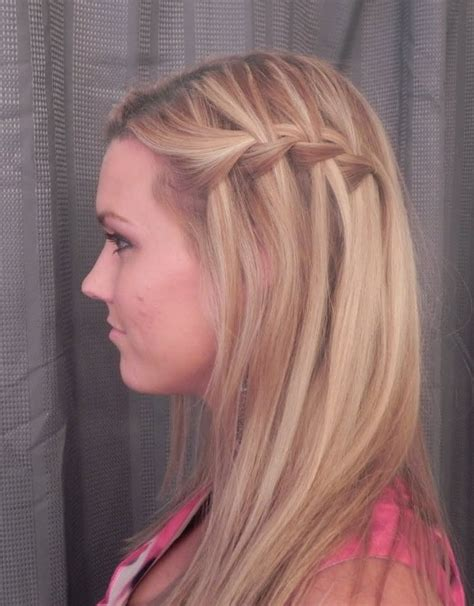 girl hairstyles plaits sideview of waterfall braid hairstyles a great hairstyle