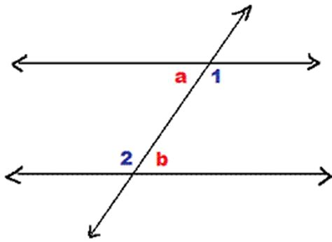 Definition Of Alternate Interior Angles by Congruent Angles Congruent Corresponding Angles Math