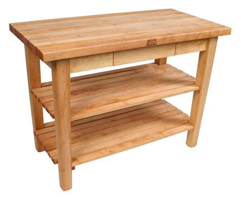 boos country work table butcher block table