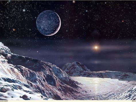 The View From Pluto by Pluto Wallpapers Wallpaper Cave
