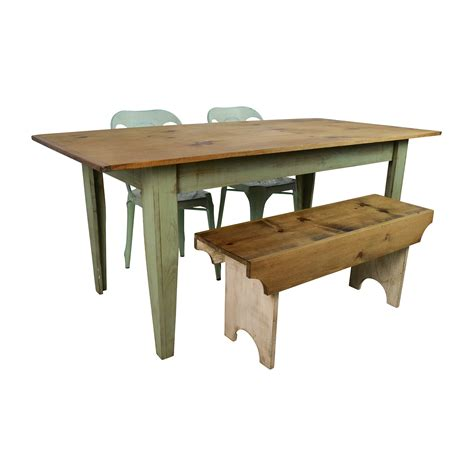 rustic table with bench 34 off wayfair and urban outfitters urban outfitters