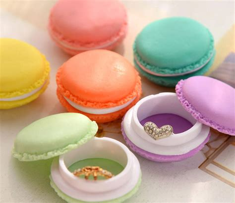 Headset Box Sibly Macarons Biscuit Box Earphone 1 6 pcs mini earphone headset sd card macarons bag storage box carrying pouch ebay