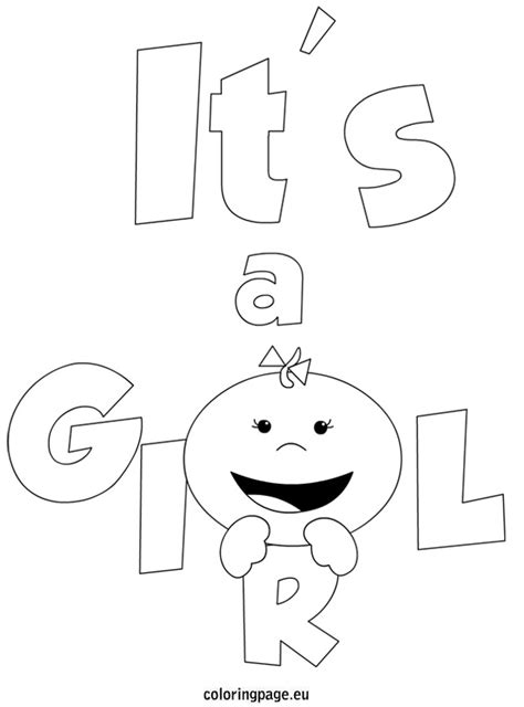 coloring page it s a baby girl people coloring page