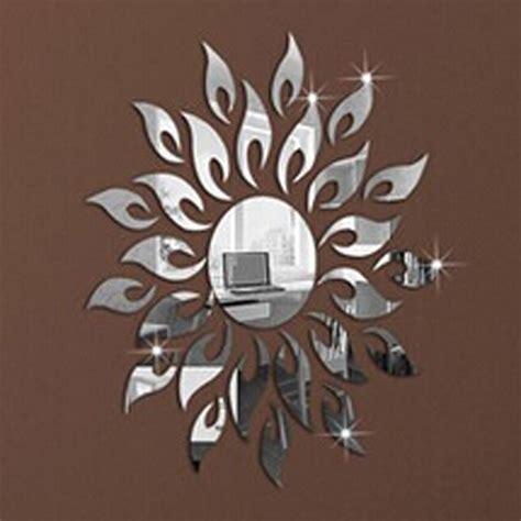 The 1set 1set new diy home decoration mirror wall stick sunflower