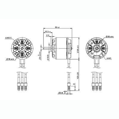 Termurah Dynam Power Combo 6 Bm3715a Kv890 30a Esc 4pcs 9g Servos 11 detrum bm3715a3 kv890