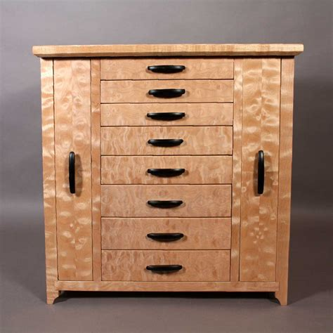 Jewelry Storage Cabinet Quilted Maple Jewelry Cabinet With Necklace Storage