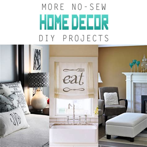 sew home decor more no sew home decor diy projects the cottage market