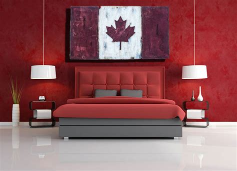 montreal home decor distressed wood one of a kind canadian flag maple leaf l
