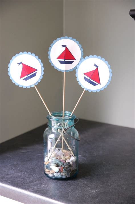 Sailboat Centerpieces Baby Shower by Items Similar To Sailboat Centerpieces Nautical