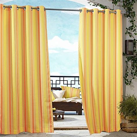 Outdoor Patio Curtains Commonwealth Home Fashions Gazebo Striped Outdoor Curtain Bed Bath Beyond