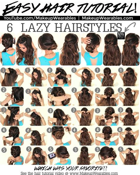 how to 5 minute easy lazy hairstyles for back to school