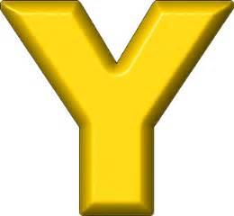 presentation alphabets yellow refrigerator magnet y