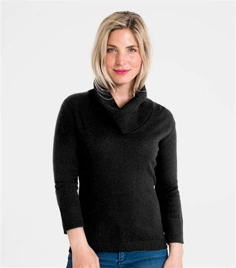 Sweater Jumper Jaket Nk Black black 20 80 merino s cowl neck jumper woolovers