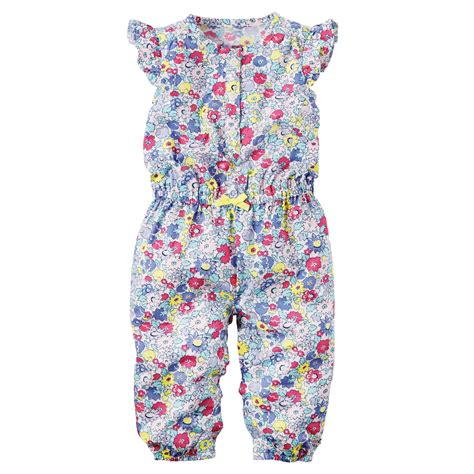 12 Months Jumper Romper Bodysuits Bayi Carters Murah s infant toddler s jumpsuit floral print baby baby toddler clothing