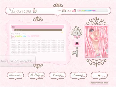 layout html codes free pink royal imvu layout by jurishi on deviantart