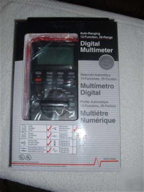 Gardner Bender Digital Multimeter Gdt 294a