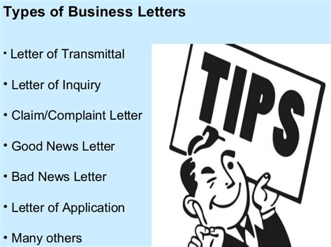 Types Of Business Letter Slideshare ppt on business letters and its types