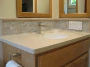 Backsplash Ideas For Bathroom Pics Photos Glass Tiles Bathroom Backsplash Design