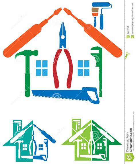 design home troubleshooting house repair logo stock vector image of clip build