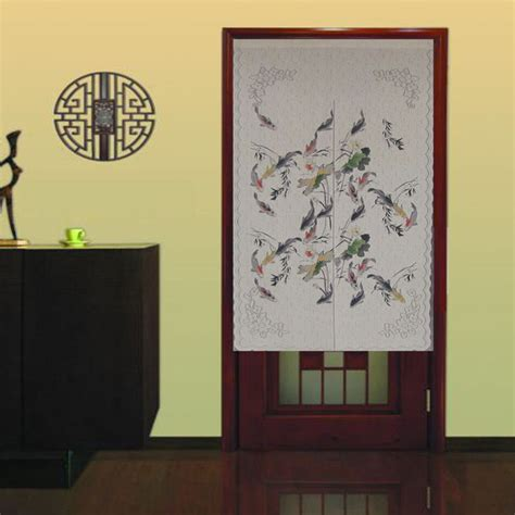 Home Decoration Forum by Water Ink Fish Painting Japanese Noren Door Curtain