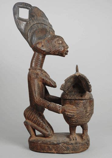 yoruba tattoo prices galerie afrikanische kunst woman with bowl yoruba