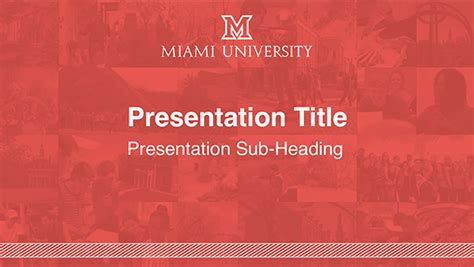 Powerpoint Templates The Miami Brand Ucm Miami University Branded Powerpoint Template