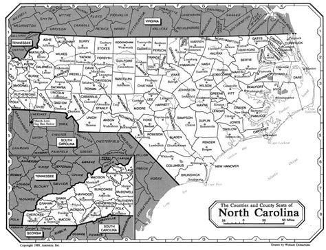 nc counties map carolina counties map