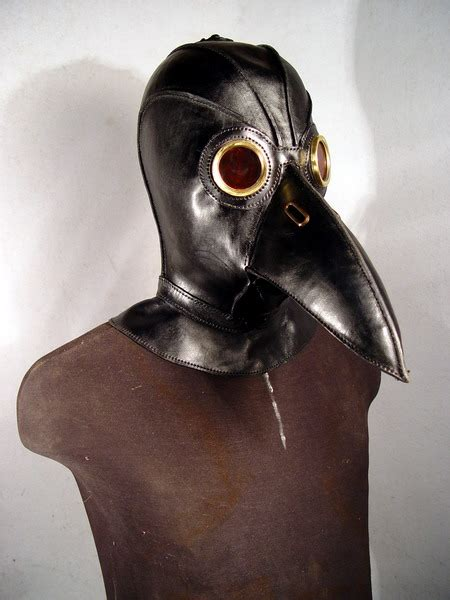 How To Make A Plague Doctor Mask With Paper Mache - bob basset s lair black plague doctor mask