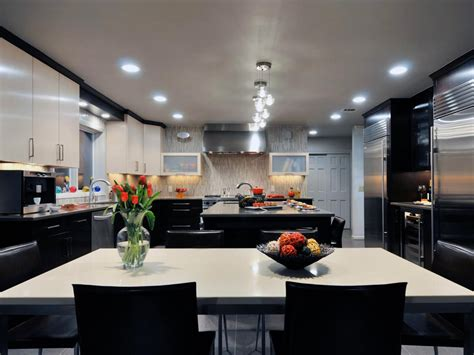 modern black kitchen photos hgtv