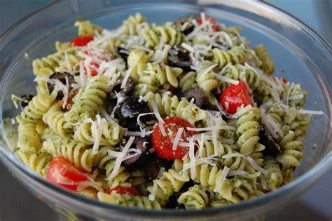 pasta salad pesto basil pesto pasta salad cooking mamas