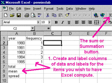 Labels Are Used In A Spreadsheet To by Spreadsheet Pg 2 Total Standard Deviation