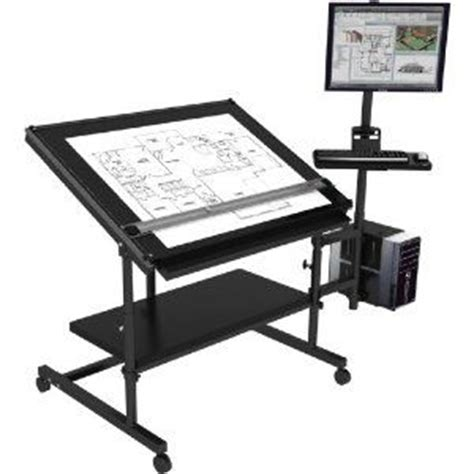 Computer Drafting Table Computer Desk W Drafting Table Excellent Design Ideas