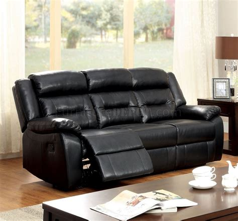 black leather reclining couch sheldon reclining sofa cm6320 in black leather match w options