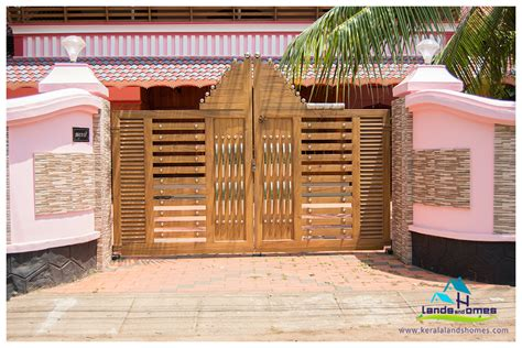 home gate design kerala compound gate designs archives real estate kerala free