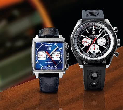 Tag Heuer Matic comparison test tag heuer monaco vs breitling chrono