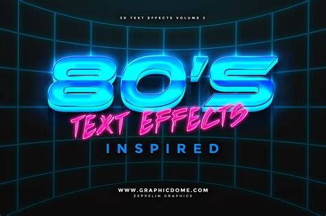 graphic design effect on society 80s text effects add ons on creative market