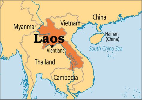 map of laos laos operation world