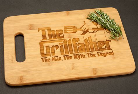 funny cutting boards the grillfather grill father bamboo cutting board funny gift