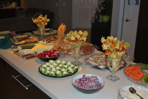 appetizer table christmas treats pinterest christmas