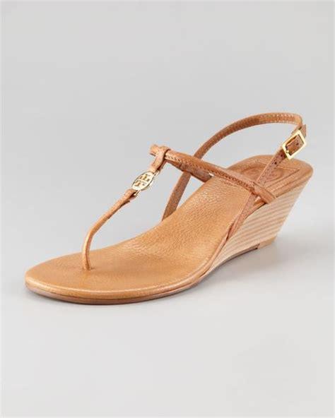 burch emmy sandals burch emmy demiwedge sandal in brown royal