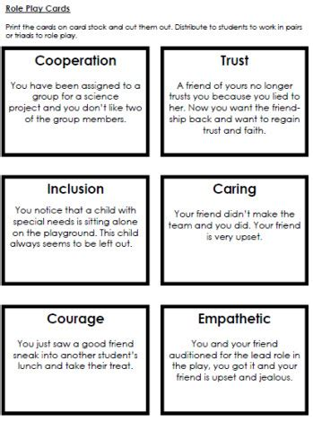 group works pattern language cards character role play cards worksheets