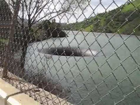 bottomless pit monticello dam drain hole xcitefun net lake berryessa youtube