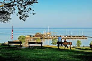 Bench Duvet Cover Fairhope Alabama Pier Painting By Michael Thomas