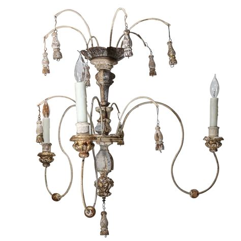 Chandelier Accessories Parts Italian Wood Carved Gilt Spider Chandelier Made With 18th Century And New Parts At 1stdibs
