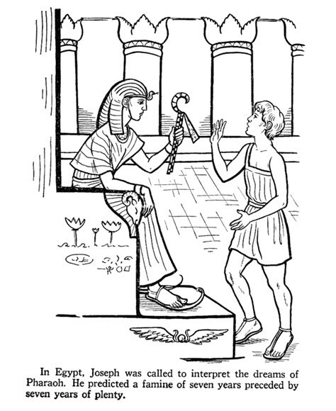 coloring pages joseph and his brothers joseph in egypt bible story coloring page sunday school