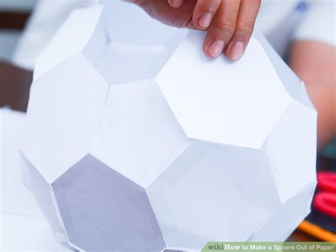 How To Make 3d Sphere With Paper - 3 ways to make a sphere out of paper wikihow